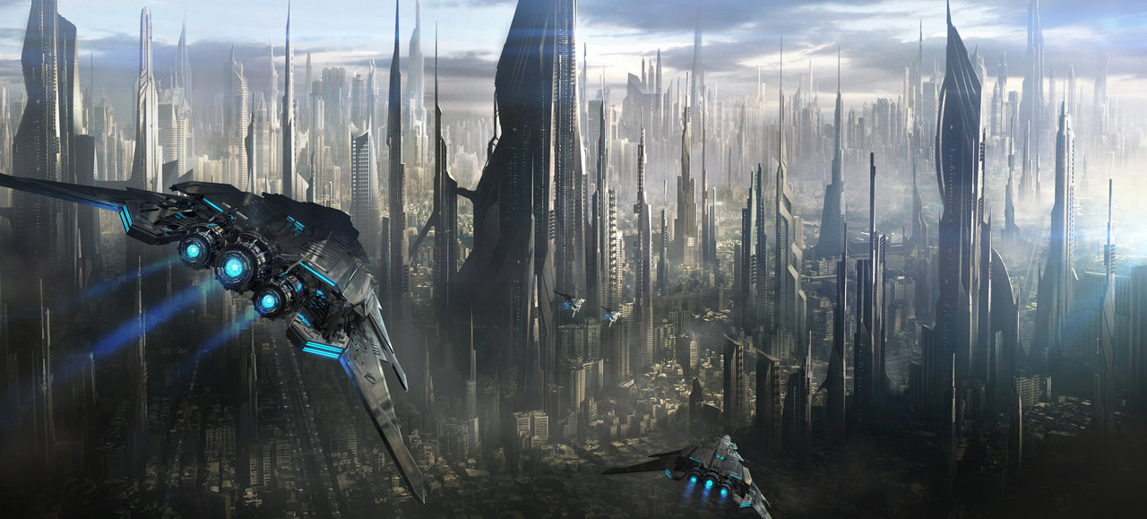 """Depiction of a futuristic city"" by Jonas de Ro, 2012 - Jonas de Ro, Cities of the future. Licensed under CC BY-SA 3.0 via Wikimedia Commons - http://commons.wikimedia.org/wiki/File:Depiction_of_a_futuristic_city.jpg#/media/File:Depiction_of_a_futuristic_city.jpg"