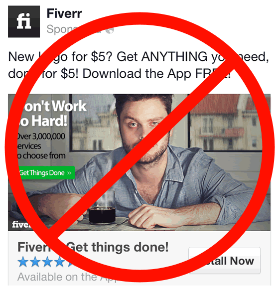Image result for don't use fiverr